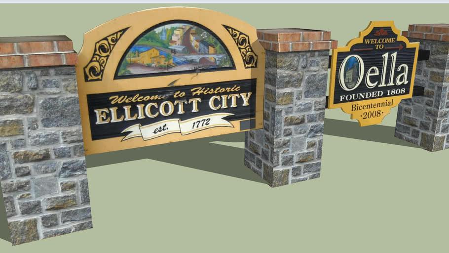 Welcome Sign Ellicott City, Maryland
