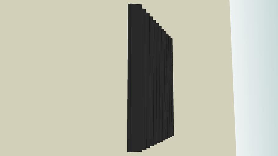 Panel acústico de goma espuma negra
