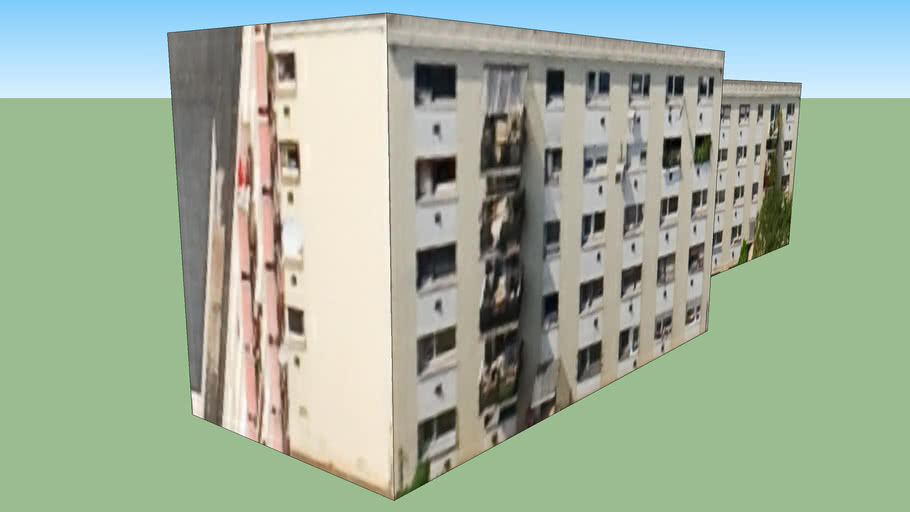 Building in Budapest, Hungary, Pöttyös utca, panel