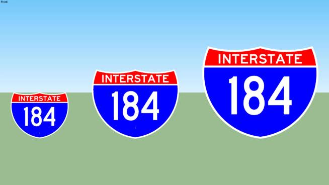 Interstate 184 Sign