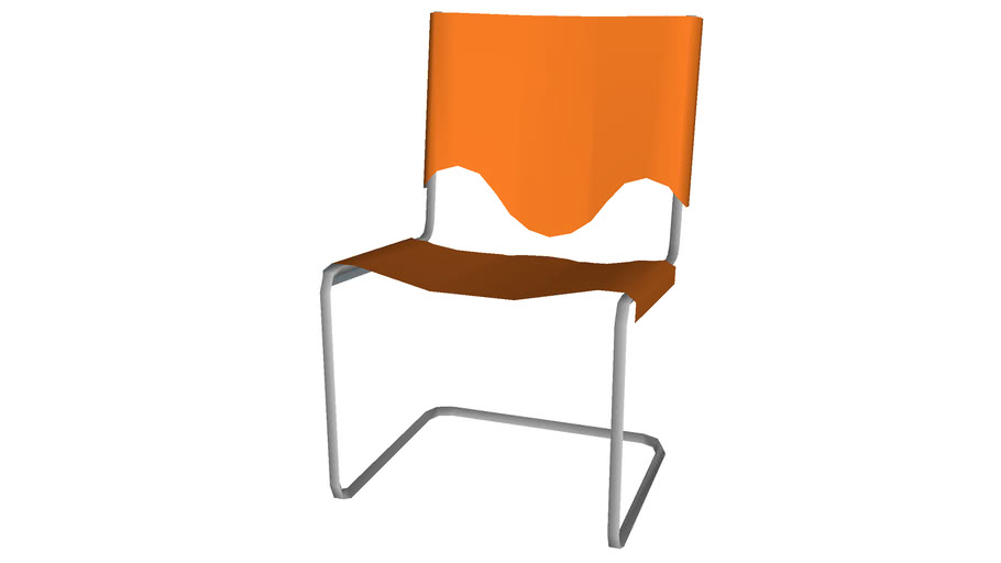 Scalloped plastic chair