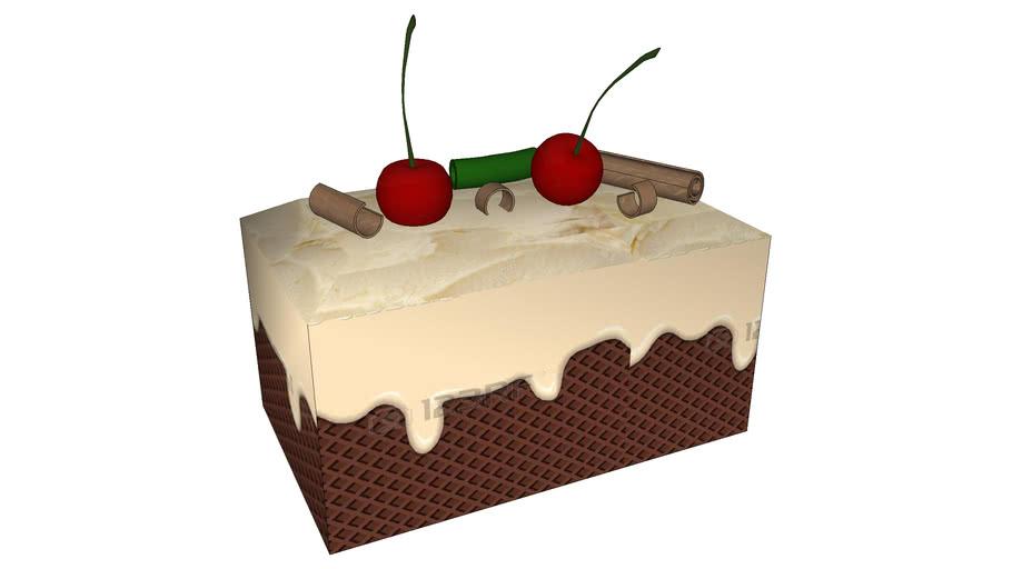 Fruit & chocolate vanilla cake