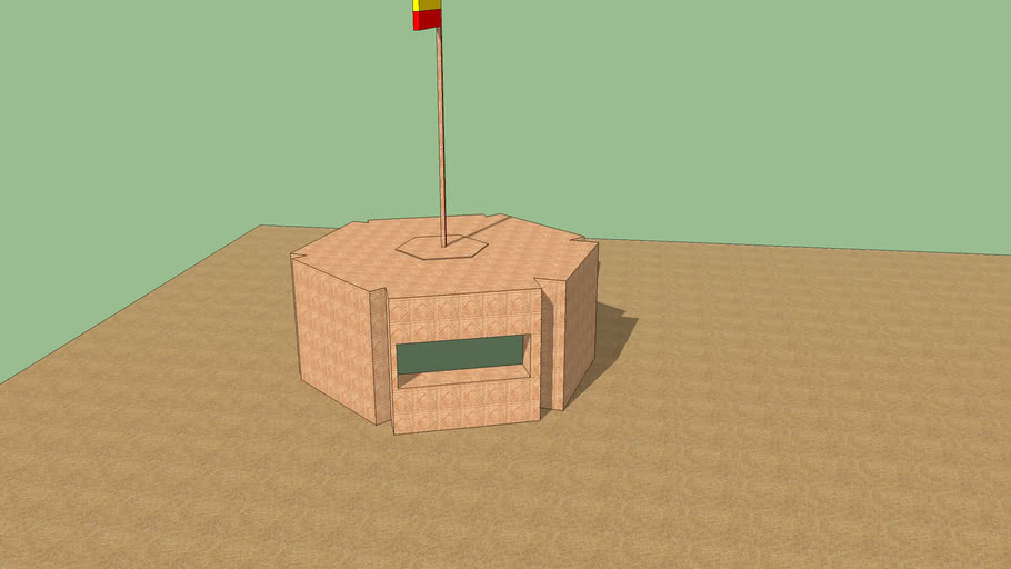 Bunker /w Spanish Flag on top