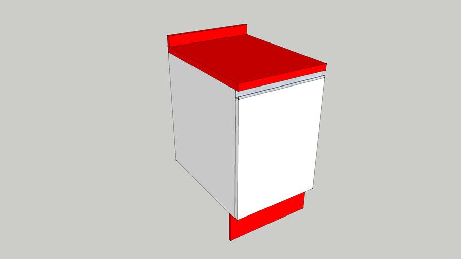 Mueble  de cocina 40 cm  1 puerta encimera y zocalo