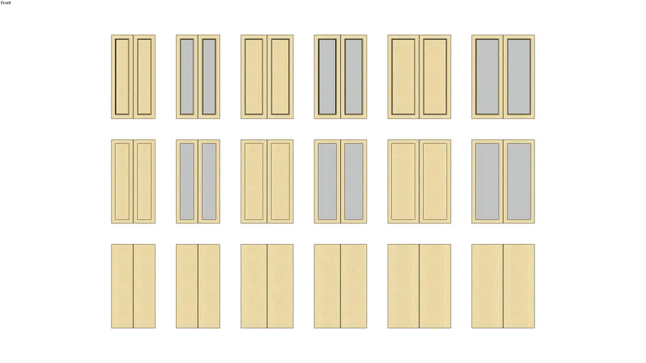 """Cabinets Plus - 48""""H Uppers_w 2-doors_214_25-36"""