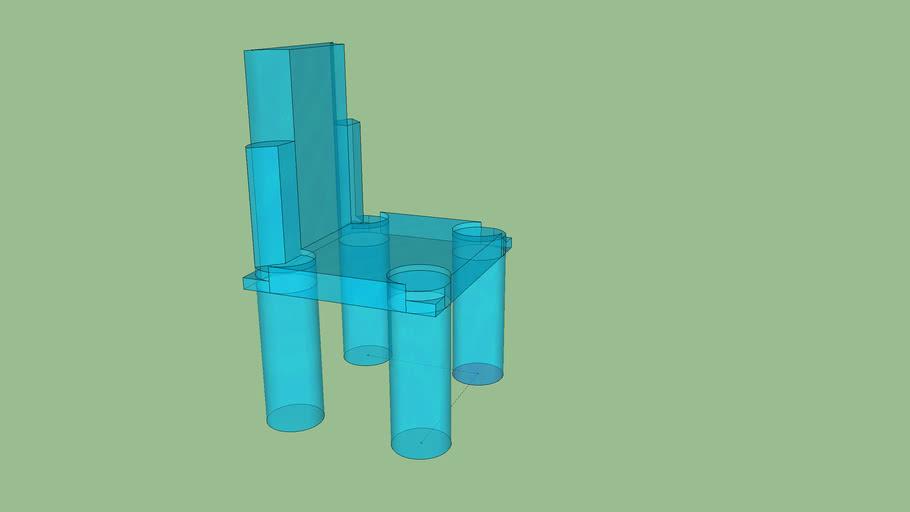 chaise de verre design