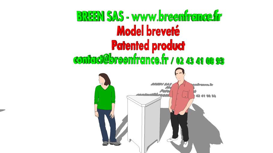 Banque d'accueil en carton - Propriété exclusive de BREEN SAS