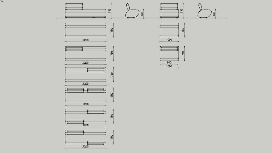 Treeline Seating - Short, Y-Shape