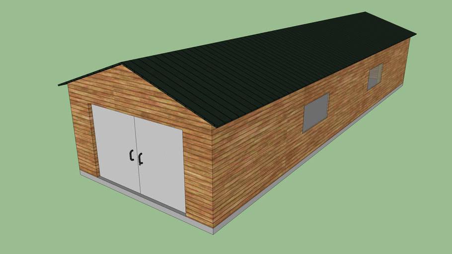 Hangar en bois 20x6x4 m
