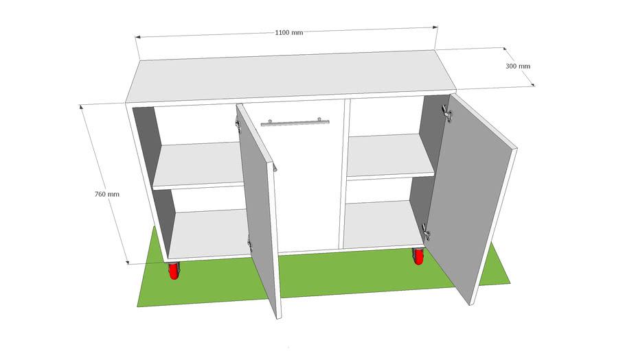 Reception Wheeled Cabinet