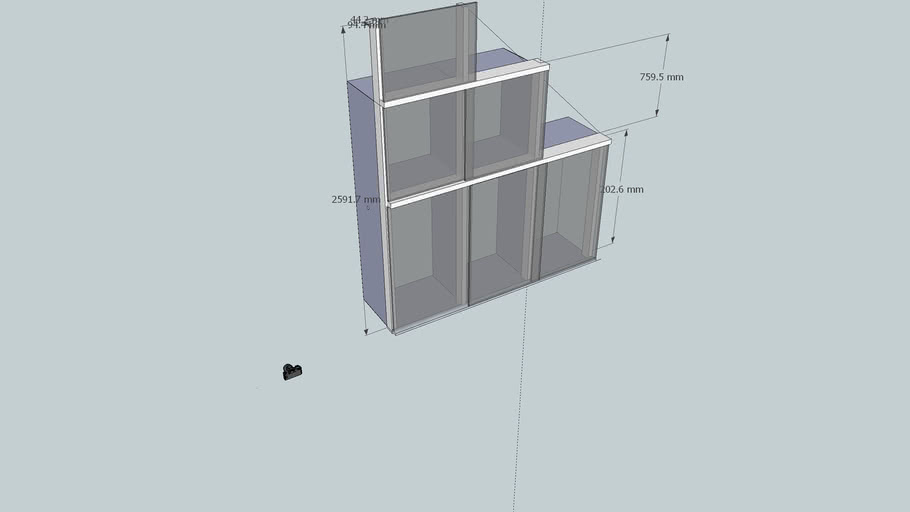 wardrobe under a sloping roof