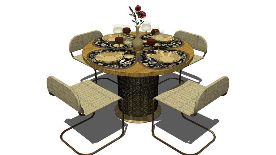 Furniture, Contemporary Dining Room Set
