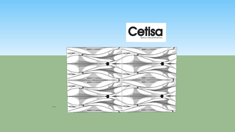 revestimento 3d cimenticio cetisa wave