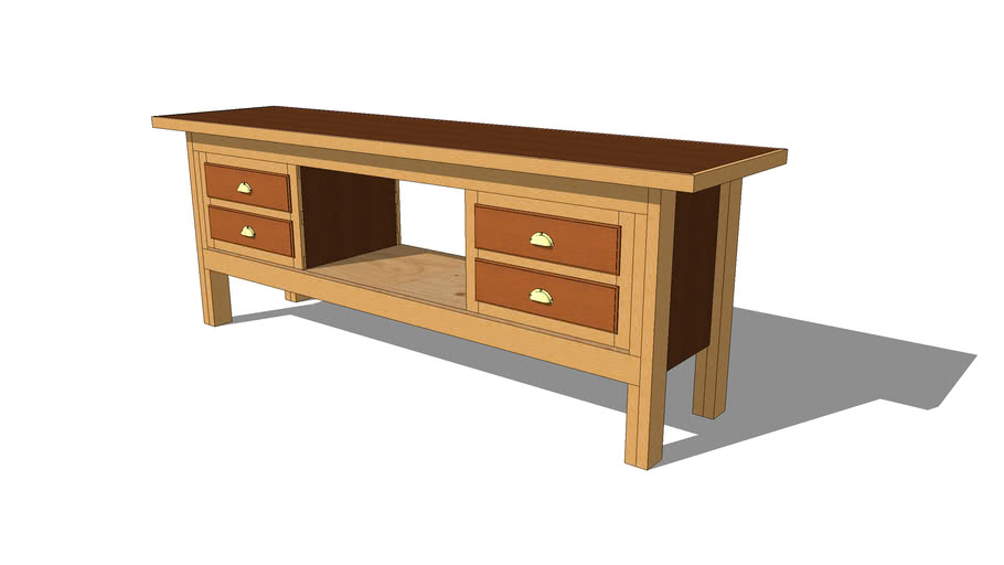 4 Drawer 2x4 Workbench