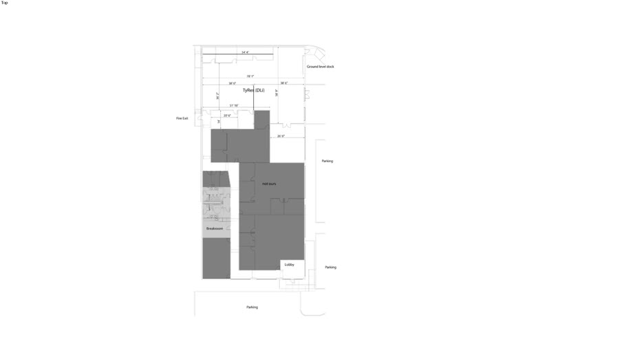 Building layout imported