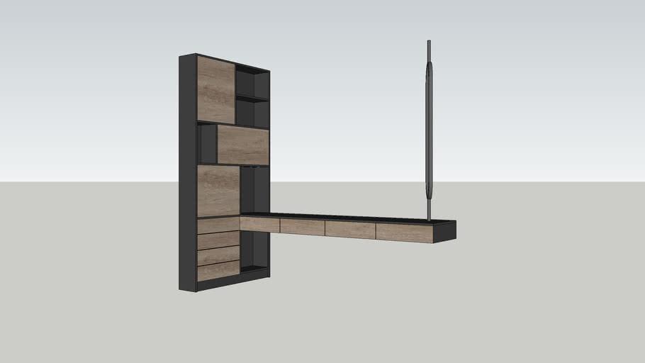 desk+cabinet