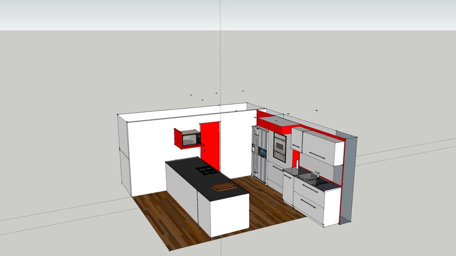 Cuisine Avec Ilot 3d Warehouse