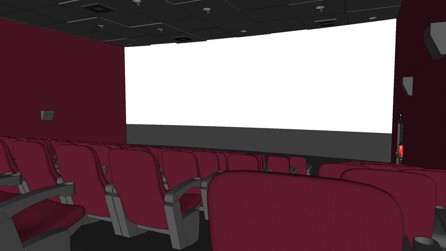 Sala De Cinema Movie Theater 3d Warehouse
