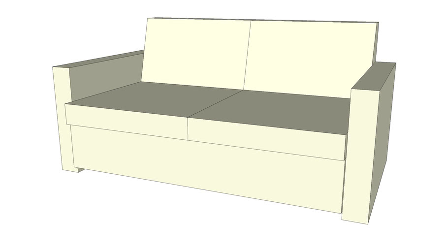 Rectangular loveseat couch