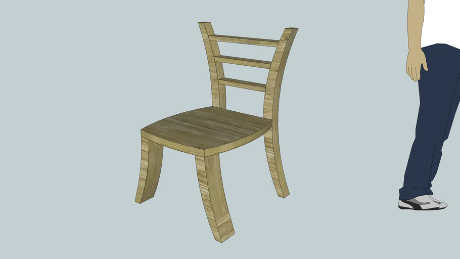 Chair with curvy legs