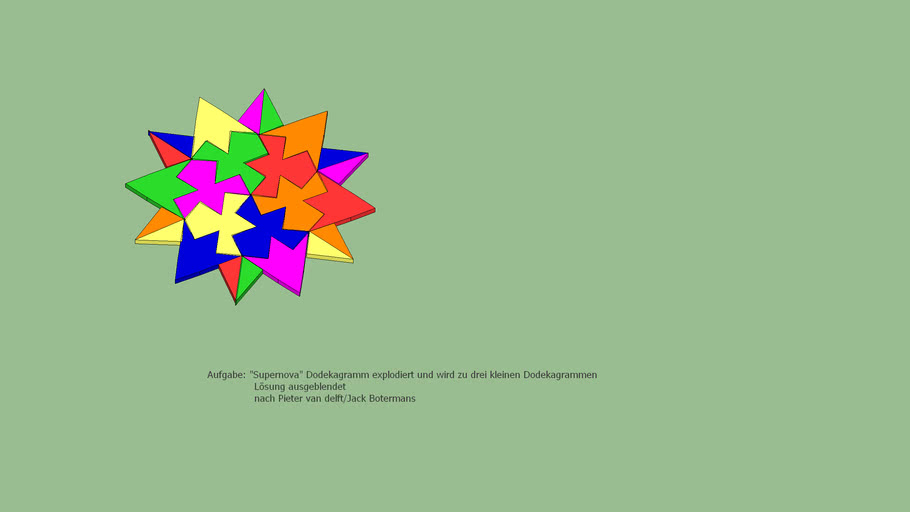 Puzzle Supernova Dodekagramm