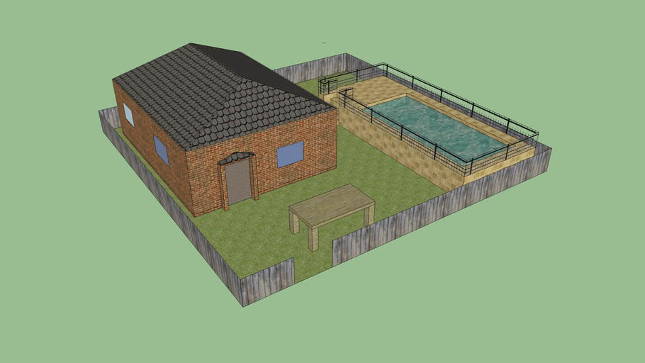 Small House with Pool and Outdoor Table