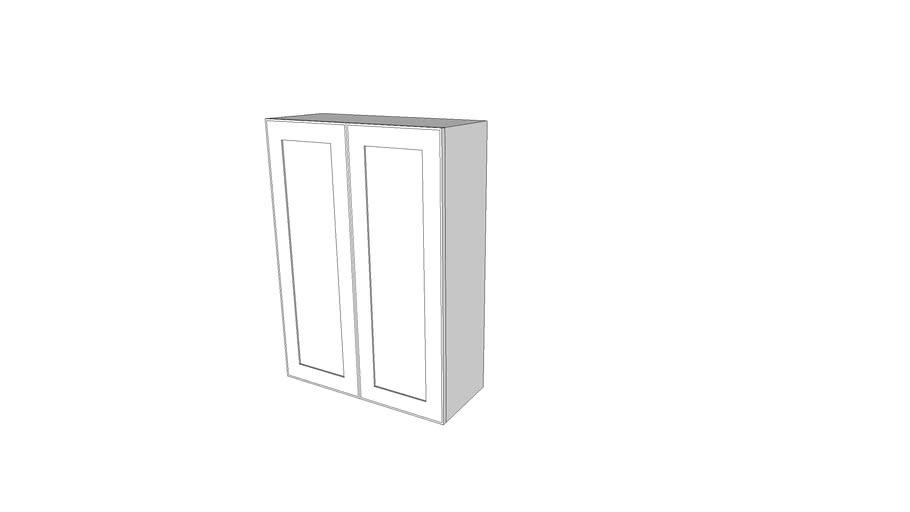 """Wall Cabinet Double Door 28"""""""
