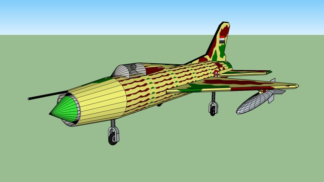 Mig 21 Fighter Plane   3D Warehouse
