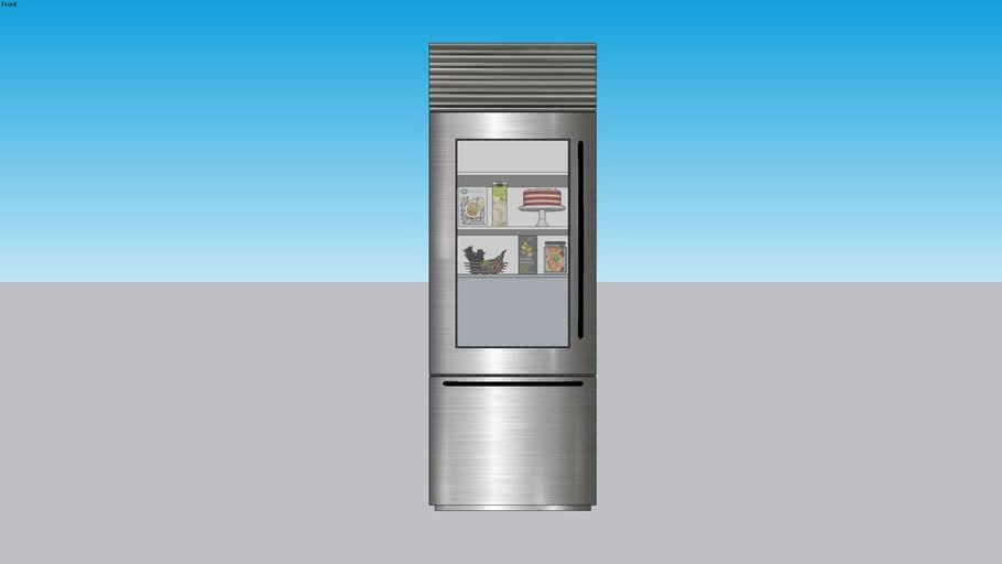 Sub-Zero BI30UGSTHLH stainless steel refrigerator