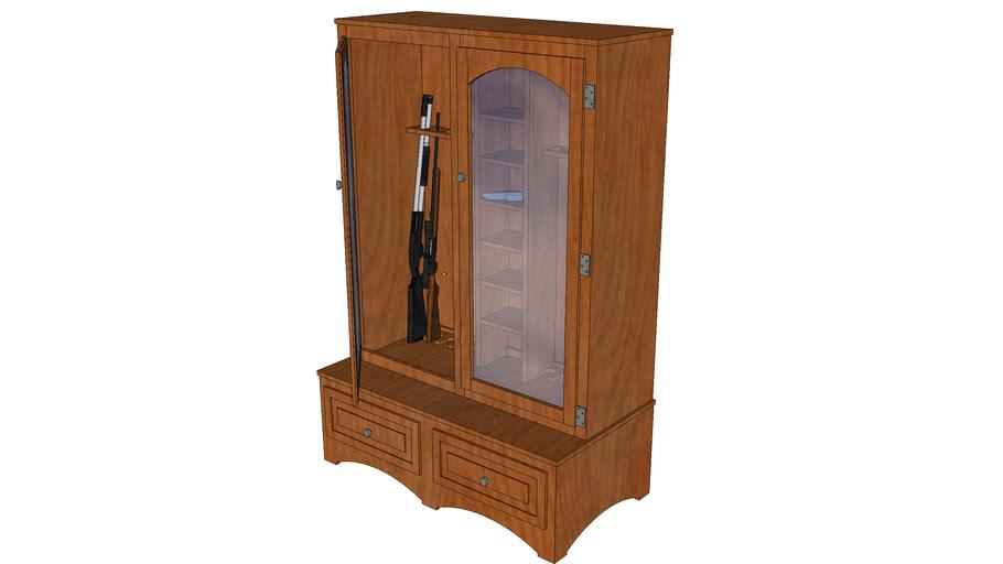 Oak Gun Cabinet