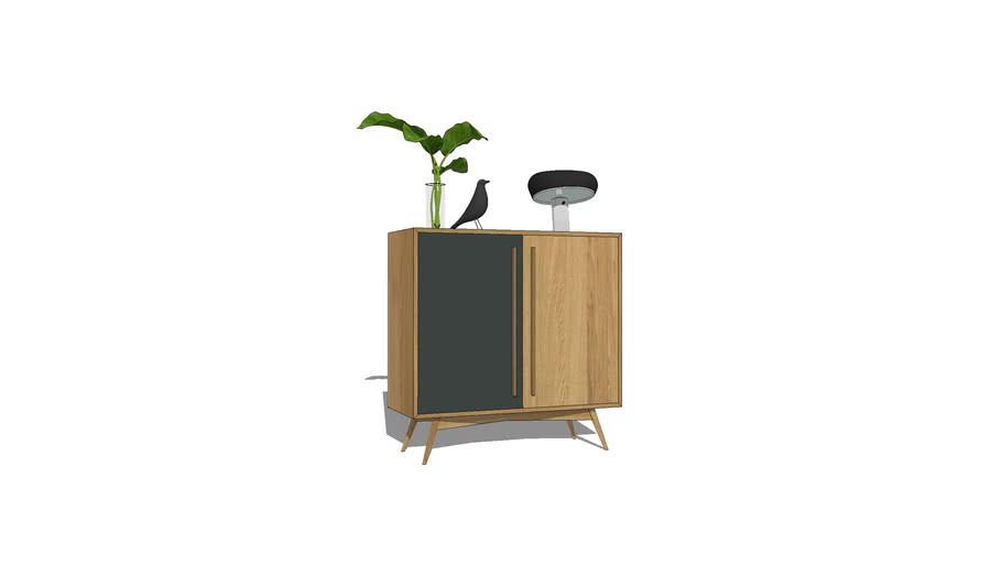 Buffet vaisselier double portes battantes 100x40xh80+p20 / sideboard design wood