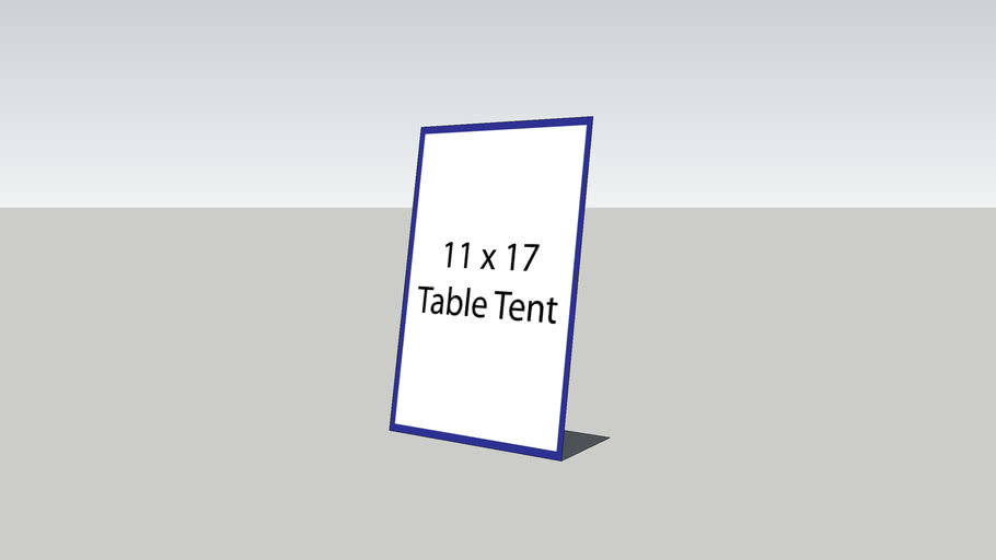 Table Tent 11x17