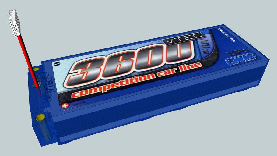 LRP VTEC Competition Car Line 11,1 Volt 3600 mAh LiPo Akku #79880