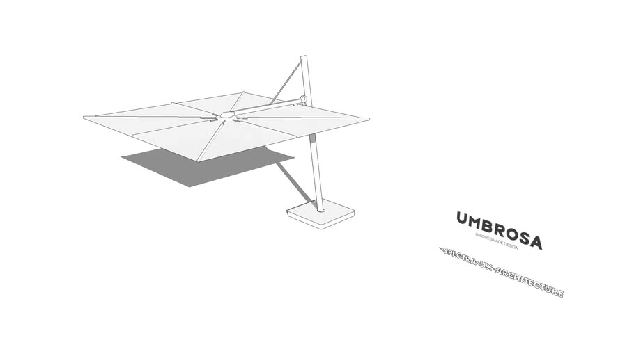 SPECTRA UX ARCHITECTURE Freestanding Umbrella By Umbrosa