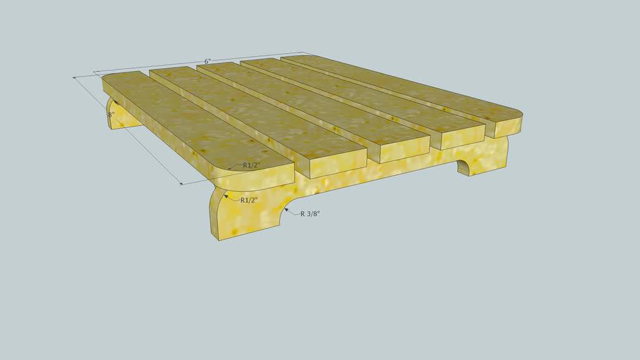 Trivet simple wood