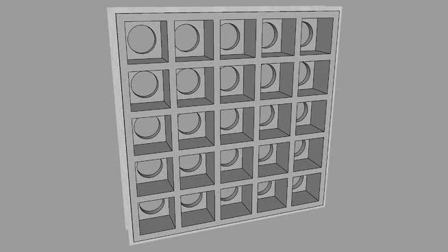 Elemento Vazado (cobogó) de concreto.