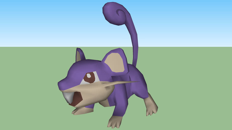 pokemon rattata 3D