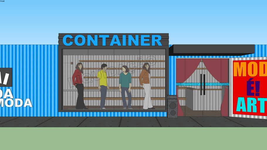 lojas Container da moda
