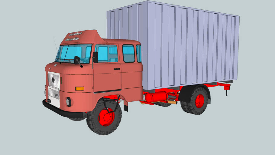 W50 L Möbelkoffer mit langem Fahrerhaus (Fernfahrerausführung)