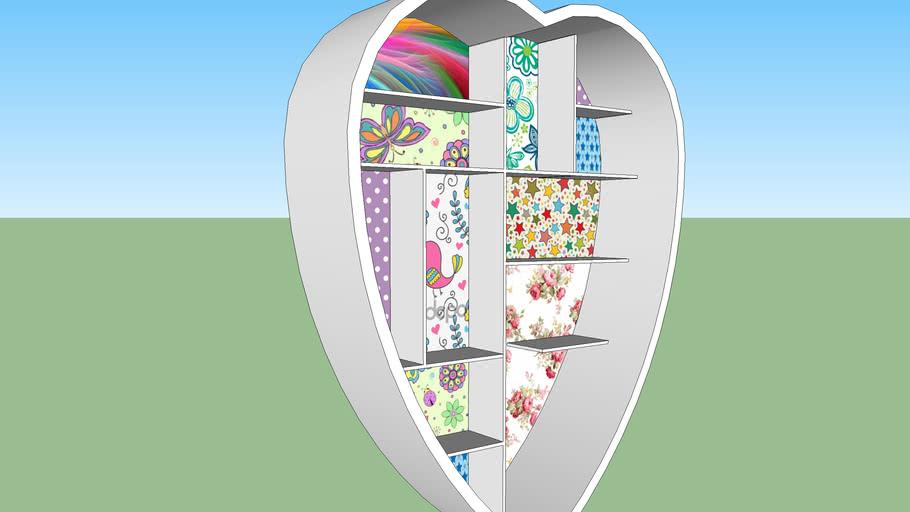 Kalp Raf - Heart Bookshelf