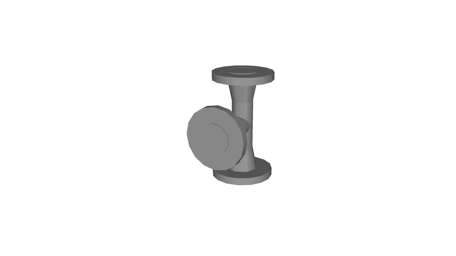 tee WN, 1.25�, low polygon with flange