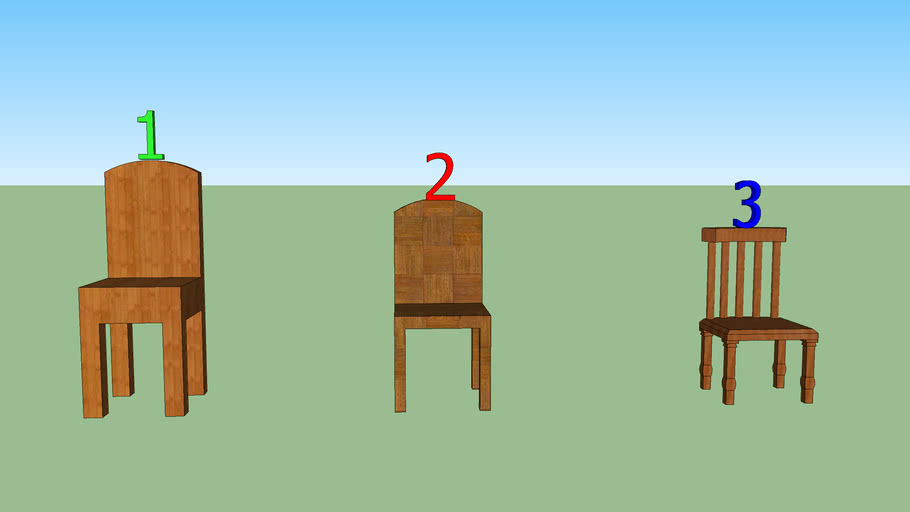 Chairs built using the tutorial.