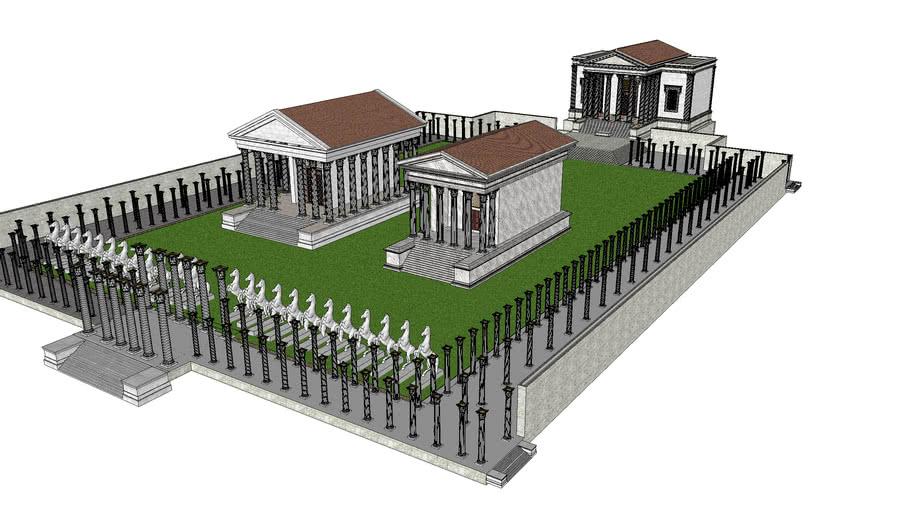 Portico di Ottavia Hypothetical Reconstructed Roman Model