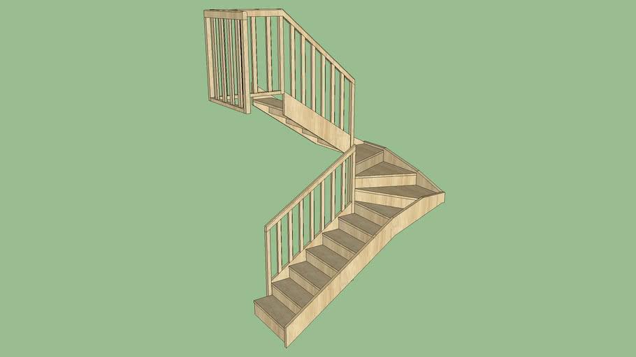 Escalier Ht 2.85m 16M