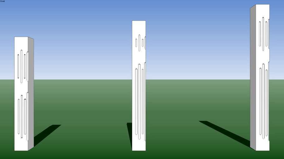 (Bufftech) Manchester Decorative Fluted Panel Posts