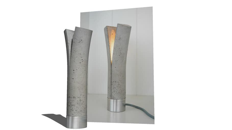 Split concrete lamp