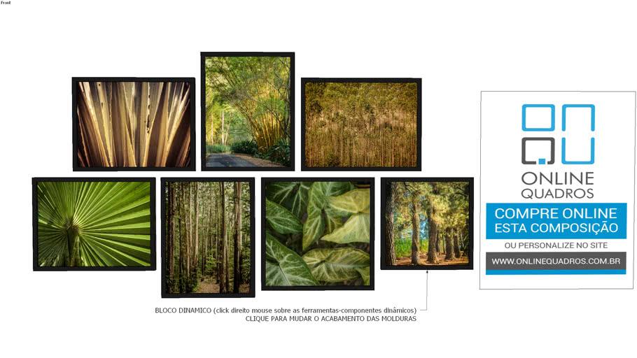 Composição de Quadros - Tema Folhas e Galhos