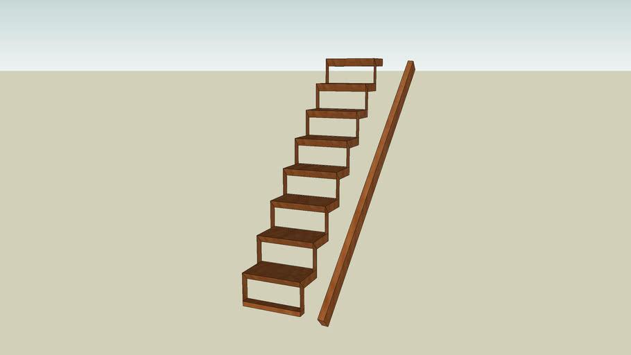 escalier bois + rampe 2