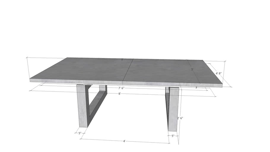 Custom Gathering/Ping Pong Table