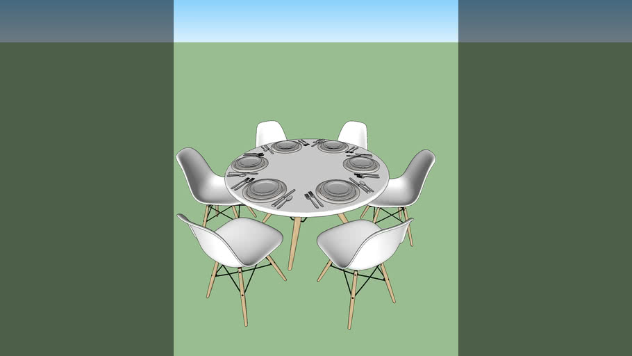 mesa redonda jantar 6 lugares